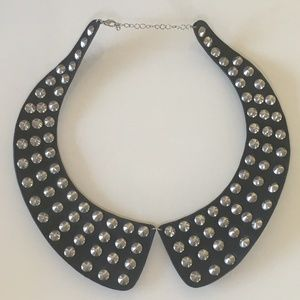 Jewelry - Black Pleather and Silver Studded Choker